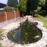 Rubber lined wildlife pond