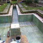 Fibreglassing formal pond