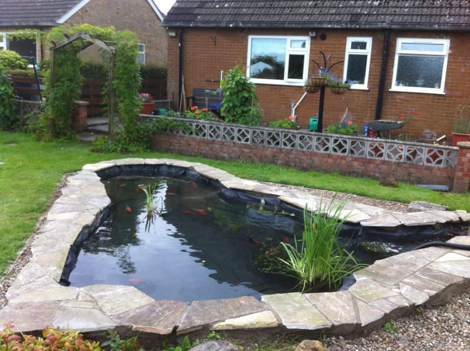 Gallery repairs pond works for Formal koi pond