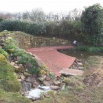 Completed wildlife pond & stream