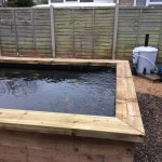 Koi pond with filtration system complete