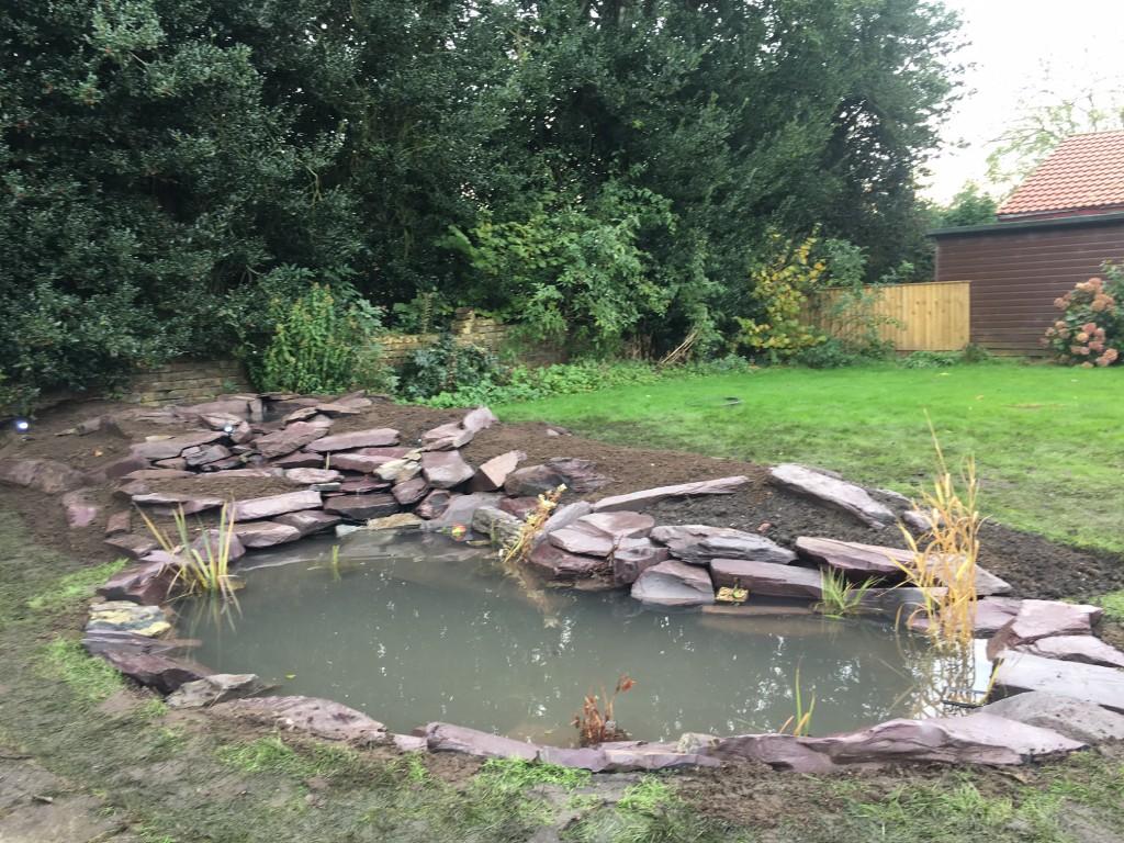 New slate pond