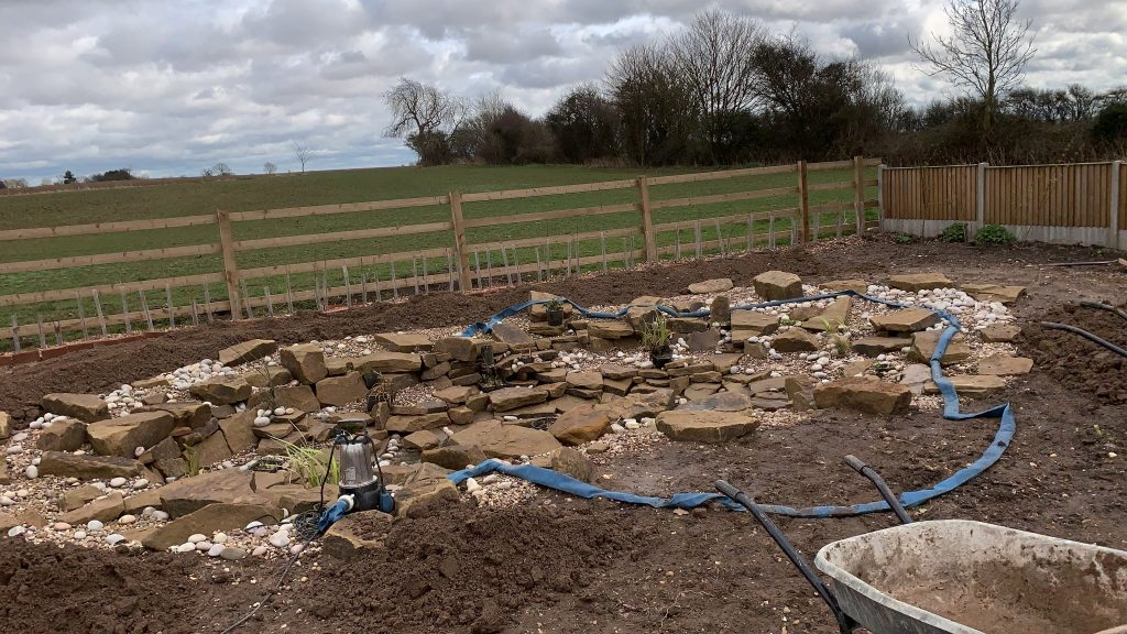 Finalising a widllife pond